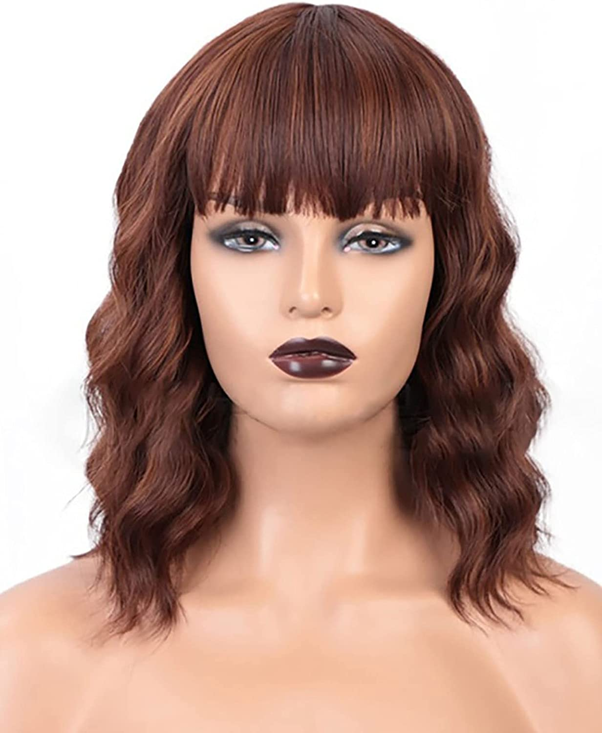 xiaoji Ms. Bob's Bangs Wig Shoulder-Length Ladies Natur Charming High quality Super beauty product restock quality top! new