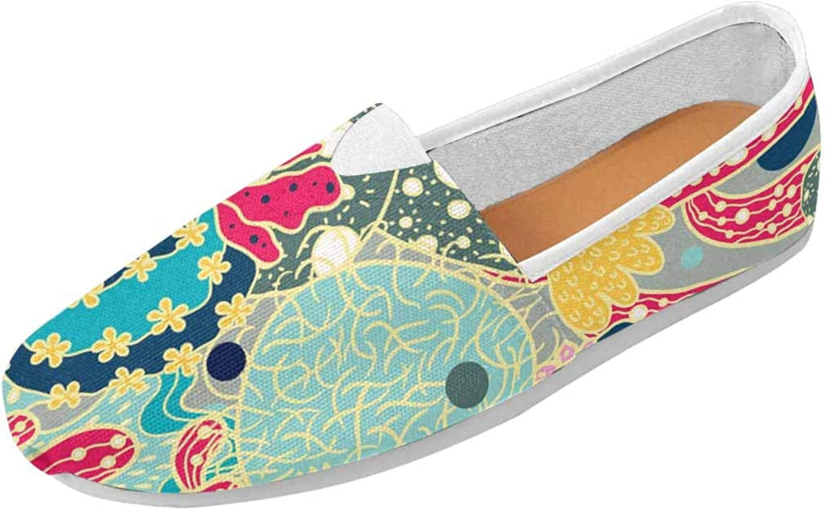 InterestPrint Cute Colorful Cactus Womens Comfortable Casual Slip On Loafers