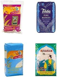 Pamai Pai Reis Probierpaket: 4 x 1kg verschiedene Reissorten Basmati- Risotto- Duft- und Klebreis