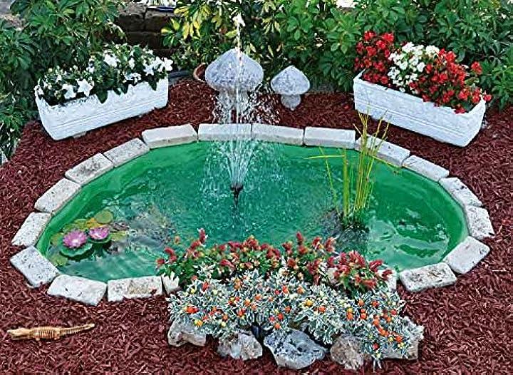 Laghetto da giardino modello nemi per pesci e piante stagno artificiale preformato 270 lt  giardini d`acqua B073CVNQYS