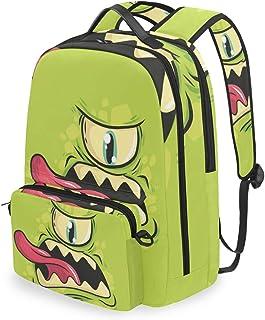 Mochila con bolsa de cruz desmontable Set Monster Computadora Mochilas Bolsa de libro para viajes Senderismo Camping Daypack