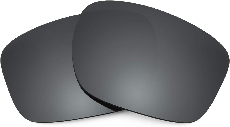 Revant Verres de Rechange pour Oakley Sliver F - Compatibles avec les Lunettes de Soleil Oakley Sliver F Chromé Noir Mirrorshield - Polarisés Elite