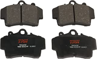 TRW Automotive TPC0737 Disc Brake Pad Set for Porsche Boxster: 1997-2008 and other applications Front, Black