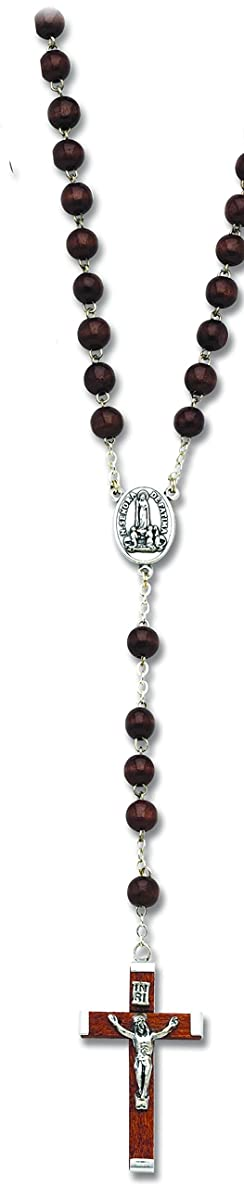 Cathedral Art RB113 Wood Beads Rosary, 20-Inch