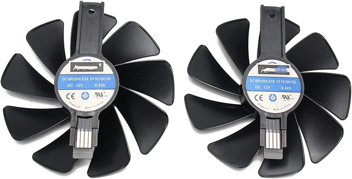 CF1015H12D Fan del refrigerador para Sapphire Radeon RX 470 480 570 570 Nitro Mining Edition RX580 RX480 Tarjeta de videojuega de Juego Ventilador de enfriamiento (Blade Color : 2PCS)