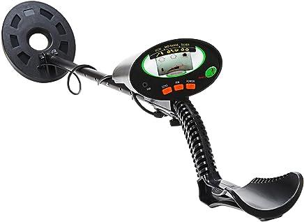 Nalanda Detector de Metales con Pantalla LCD y Una Pala Plegable Impermeable para Principiantes Adultos,