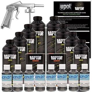 Raptor U-POL Charcoal Metallic Urethane Spray-On Truck Bed Liner Kit w/Free Spray Gun, 8 Liters