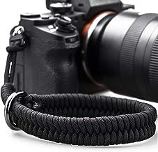 بند مچ دوربین دار با اتصال ایمن تر برای Nikon Canon Sony Panasonic Fujifilm Olympus DSLR بدون آینه ، قابل تنظیم دوربین Paracord مچ بند ، بند دستی دوربین آزاد (سیاه)