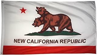 Time Roaming 3x5 Ft New California Republic Polyester Flag with Brass Grommets