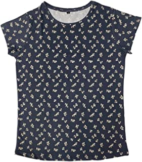 Veronica Ladies Blouse dark grey flower prints
