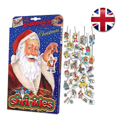 Wizard - Figurine che si rimpiccioliscono con il calore 'Shrinkles', motivo: Natale