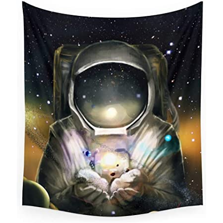 Printed in the USA Astronaut Tapestry Wall Hanging Space Nasa Outer Universe Tapestries Decor College Dorm Living Room Art Gift Bedroom Dormitory Bedspread Small Medium Large