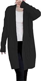 Women's Open Front Long Sleeve Knit Think Cardigan Chunky Sweater Oversized Coat