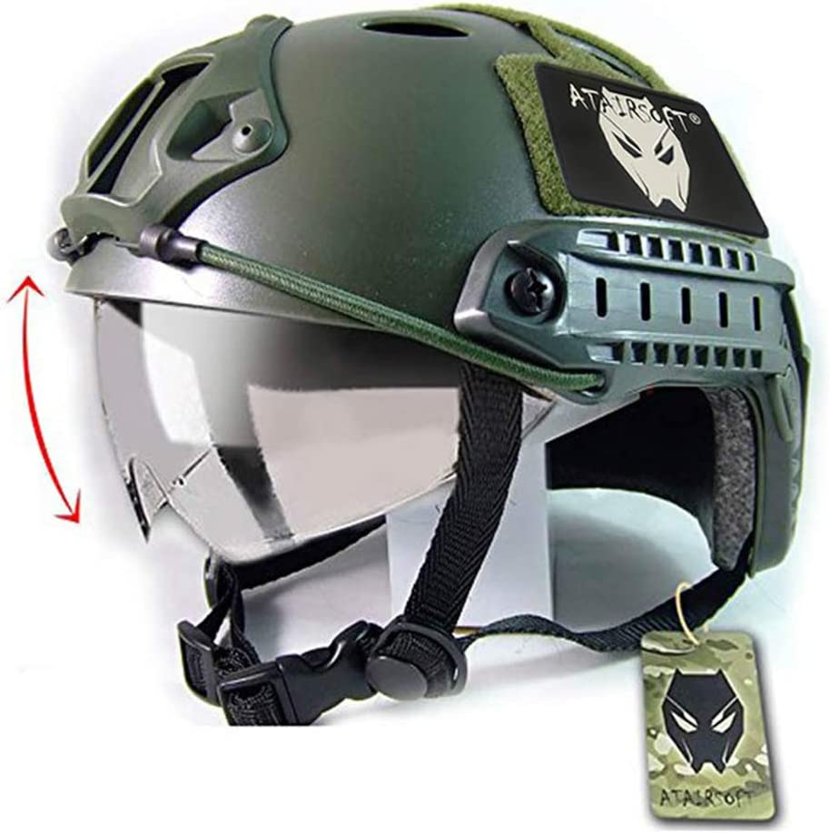 ATAIRSOFT New York Mall Breathable Shipping included Tactical Airsoft Fast PJ w Helmet Sliding G
