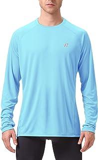Runhit Long/Short Sleeve Sun UV T-Shirt Mens Workout Running Gym Shirts