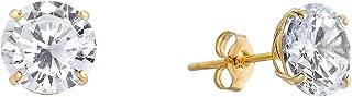Best 14k yellow gold cubic zirconia stud earrings Reviews
