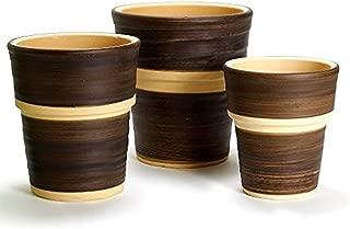 鉢 三河焼 KANEYOSHI 【日本製/安心の国産品質】 陶器 植木鉢 三河焼 ラポール ブラウン 7号