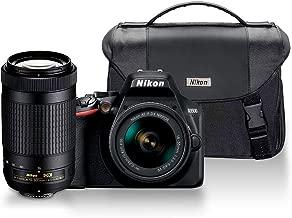 Nikon D3500 DX-Format DSLR Two Lens Kit - AF-P DX NIKKOR 18-55mm f/3.5-5.6G VR & AF-P DX NIKKOR 70-300mm f/4.5-6.3G ED, Black with DSLR Value Pack (#13544)