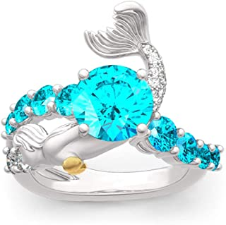 Czjewelry Goddess of The Sea Mermaid Ring Twisted...