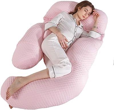 Hdhxt ボディピロー3D取り外し可能な腰椎枕ベリーとエアコットンフルバックサポートとG枕、マタニティサポート枕、枕妊娠、出産枕、3色 (Color : Pink)