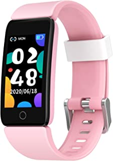 Fitness Tracker Watch for Kids Girls Boys Teens, Activity Tracker, Pedometer, Heart Rate Sleep Monitor, IP68 Waterproof Ca...