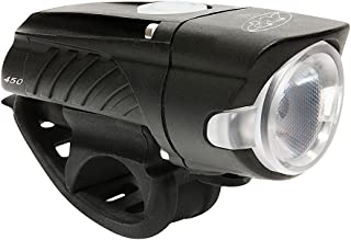 NiteRider Swift 450 Lumens USB Rechargeable Road Commuter LED Bike Light Water Resistant Compact Lightweight Bicycle Headlight, LED Front Light Easy to Install Men Women Kids Cycling Safety