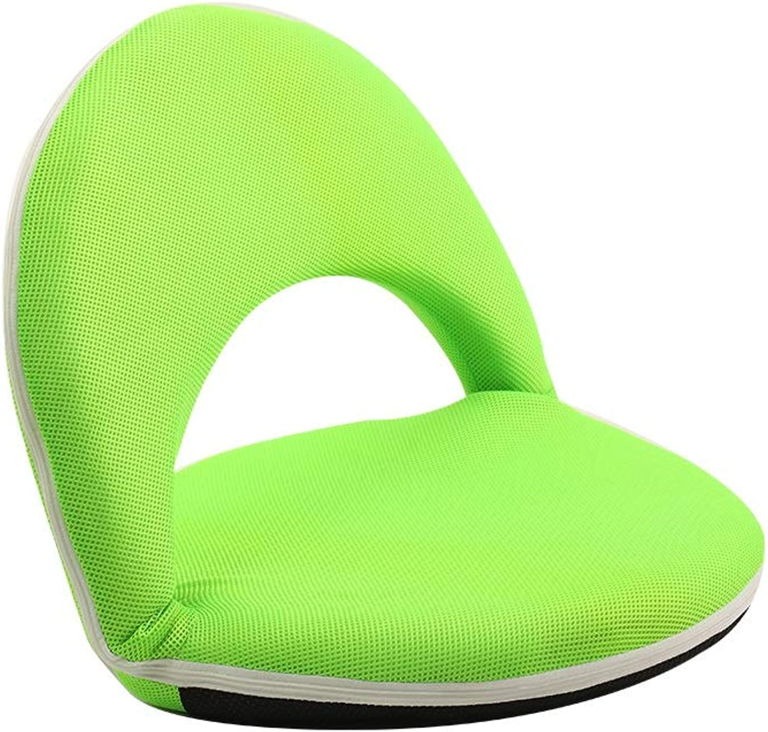 Lazy Couch,with Backrest Adult Floor Seating Balcony Bay Window Meditation Chair Lounge Chair, Multi-color Optional (color   Green)