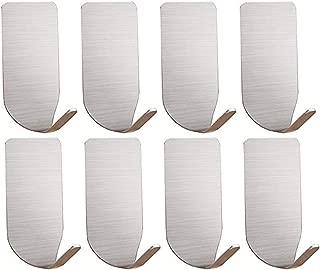 Adhesive Hooks - 3M Heavy Duty Wall Hooks Hangers Stainless Steel Waterproof Hooks for Hanging Robe Coat Towel Kitchen Utensils Keys Bags-8 Packs