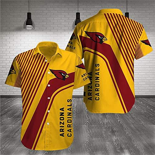 Hawaii Hemd - NFL Arizona Cardinals-Druck-Klassiker Short Sleeve-Strand-Hemd Casual Tops - Teen Geschenke A-3XL