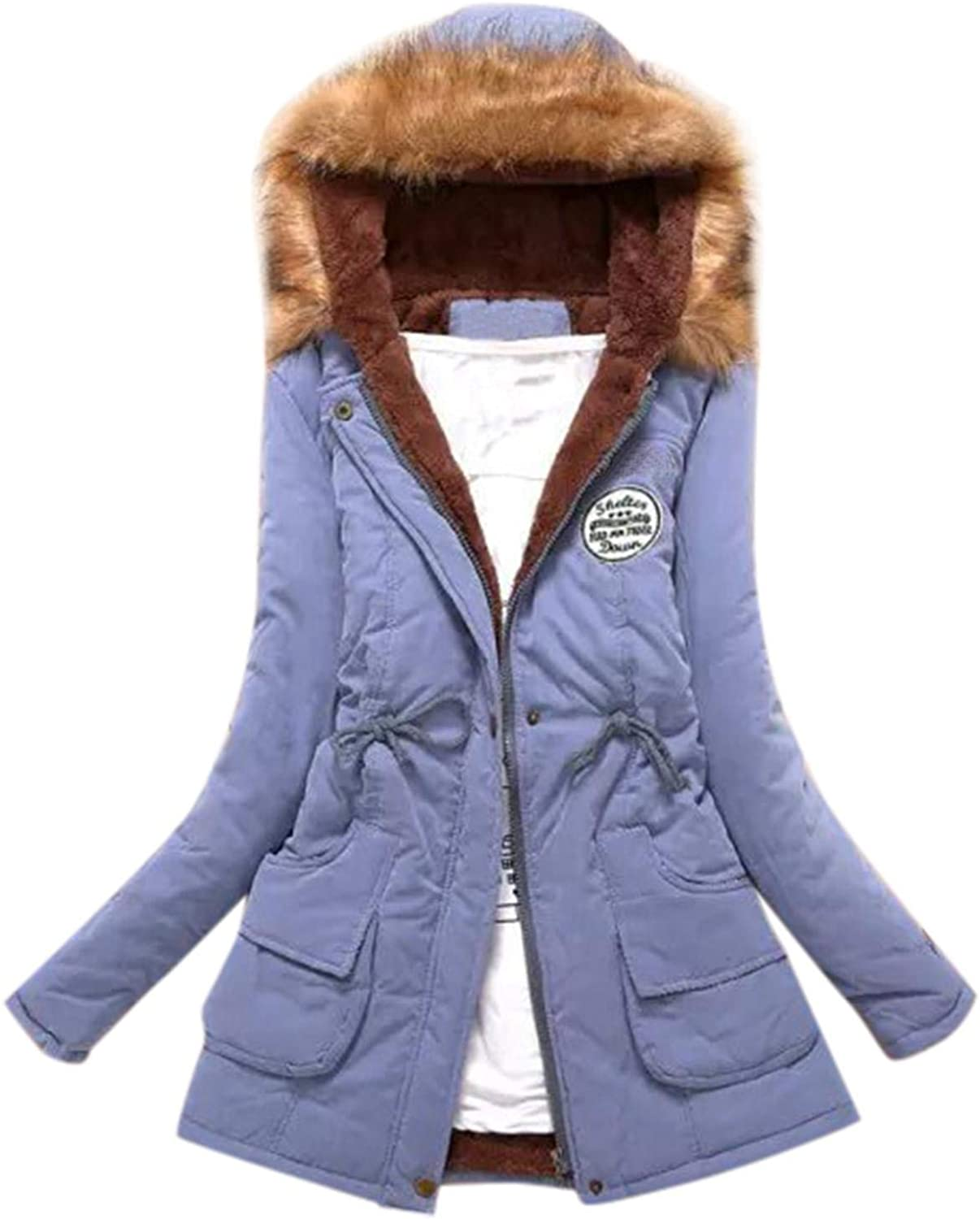 Women Long Jackets Coat Plush Online limited product Padded Cotton Cheap super special price Fleece Hoodies Lined