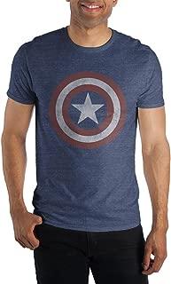 Comics Captain America Logo Men's Blue T-Shirt Tee Shirt-X-Large