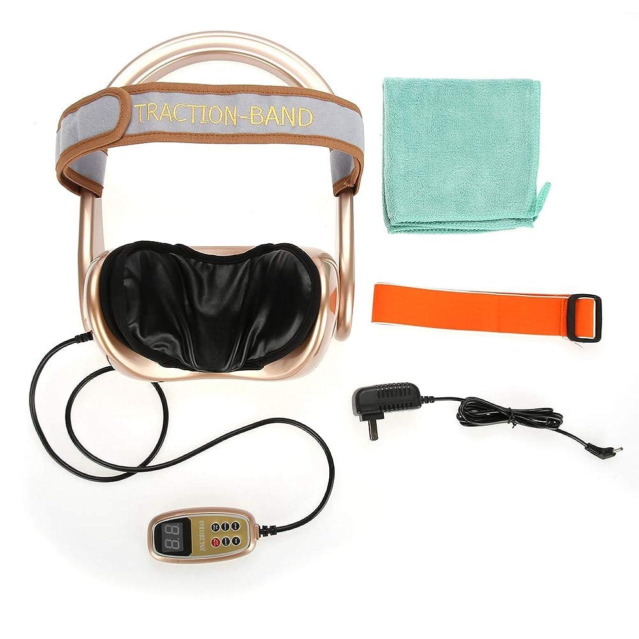 株式白い電気技師エアーネックストレッチャー ネックトラクション、多機能頚椎椎骨トラクターエアバッグマッサージャー(リモートコントロール付き)、3エアバッグ(頸部痛解消用) (US)