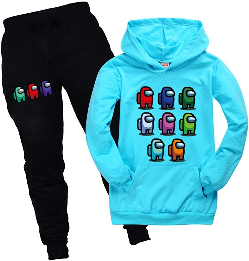 N-brand Among US Pocket Hoodies Suit Child Party Long Sleeve Sportswear for Boys Girls Fans Gift