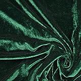 Fabulous Fabrics Samt dunkelgrün, Uni, 147cm breit –