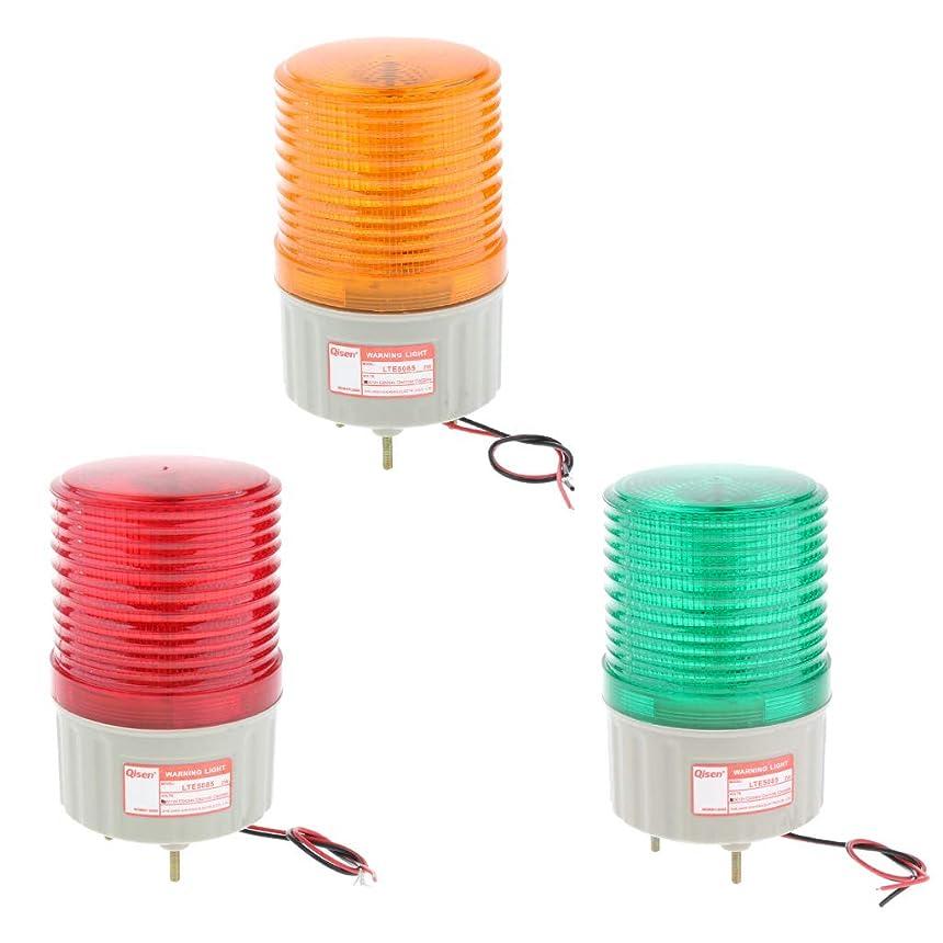 顕微鏡中級リラックスP Prettyia 2W 警告灯 信号灯 作業ランプ トレーラー灯 点滅 LED 警告ランプ 点滅ランプ 防水 3個セット