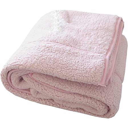 包まれた瞬間からポカポカ 二枚合わせの温もり もこもこ毛布 ピンク シングル 140x200cm