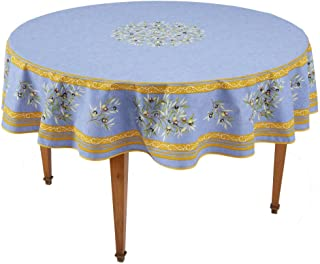 french tablecloths round