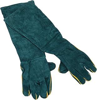 MIKOPA ペットグローブ 牛革 噛みつき ひっかき 対策 厚手 手袋 ロングタイプ 耐熱 耐摩耗 アウトドア ガーデニング DIY