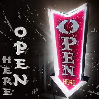 Kalasu Rustic & Retro Open Neon Sign Home Decor Beer Bar Club Marquee Metal Tin Box Light Led Sign 16