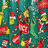 1 Roll Dr Seuss How The Grinch Stole Christmas Naughty or Nice Wrapping Paper 70 sq ft