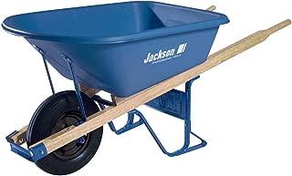 Jackson Professional Tools Mp575ffbb 5.75 Cu Ft Poly Wheelbarrow W/flat Free Tires