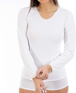 Women/'s donna manica corta Camicia da notte tessuto di Cotone a Pois Da La Marquise