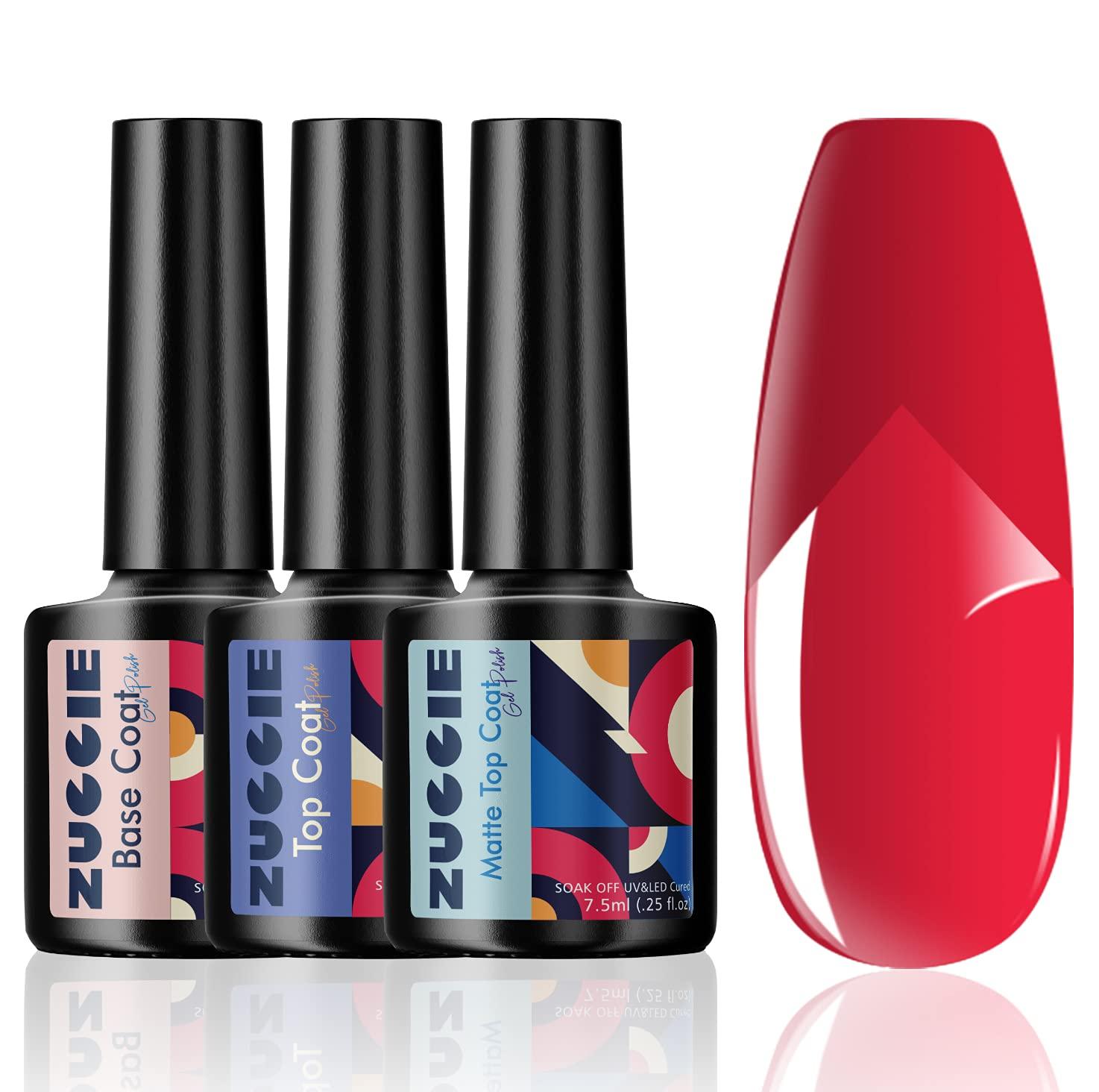 ZUCCIE Gel Award-winning store Top and Base Special Campaign Coat-Matte Coa No Wipe Coat