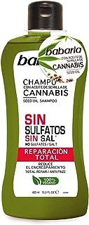 Babaria Cannabis CHAMPU SIN Sulfato REPARACION Total 400ML Unisex Adulto Negro 400 ml