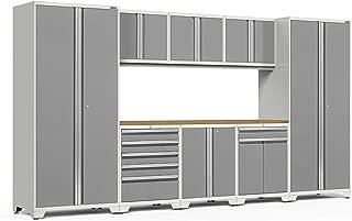 NewAge Products Pro 3.0 Platinum 9 Piece Set, Garage Cabinets, 52466