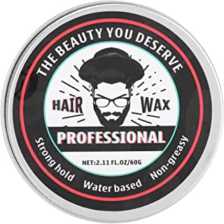 60g Hair Pomade Natural Wax Hair Styling Clay Smooth and Shiny Modeling Long Lasting Moisturizing