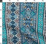 Türkisch, Streifen, Blau, Kelim, Geometrisch, Aquamarin