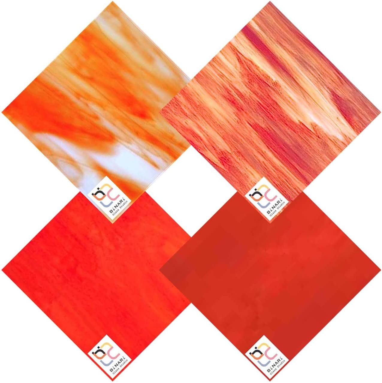 Wissmach 4 Sheet Mixed Color Max 72% OFF Variety Glass Mosa Milwaukee Mall and Pack Stained