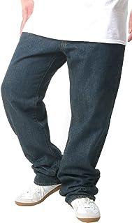 [ヘインズ] 大きいサイズ ジーンズ デニム ロング パンツ ストレート メンズ