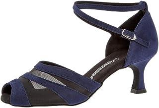 Diamant Femmes Chaussures de Danse 102-077-135 - Suéde/Mesh Navy Blau - 5 cm Latino Flare